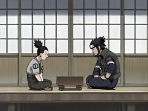 Shikamaru Nara and Asuma