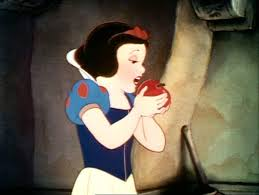 Snow White and appel, apple