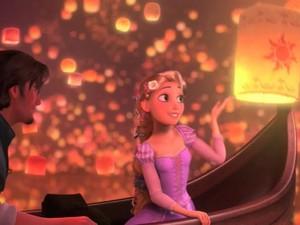 Rapunzel and the lantern