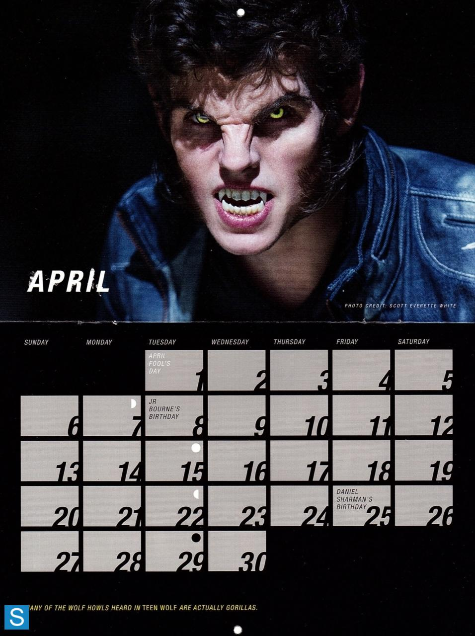 Teen Wolf - Season 3 - 2014 Calendar Promotional Photos