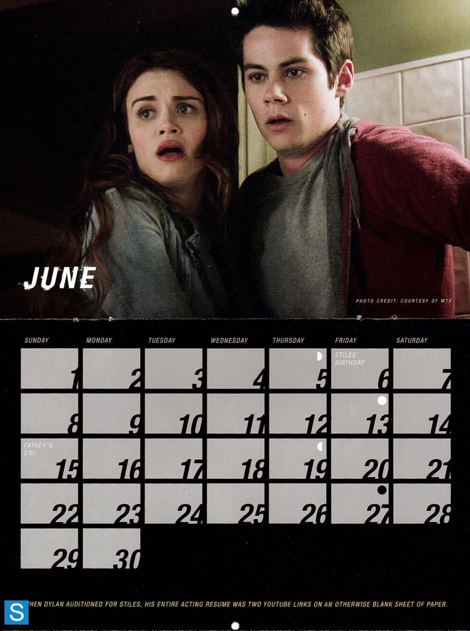 Teen wolf - Season 3 - 2014 Calendar Promotional Fotos