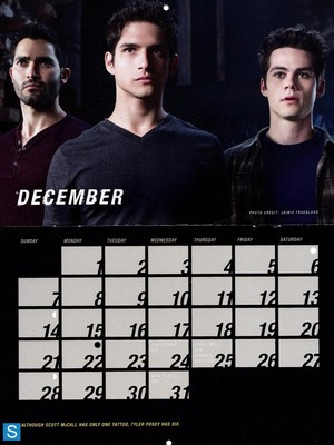 Teen Wolf - Season 3 - 2014 Calendar Promotional Photos
