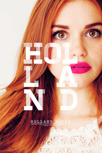 Teen lupo wallpaper with a portrait titled Holland Roden as Lydia Martin