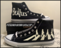 The Beatles 'Abbey Road' Custom Converse / Painted Shoes - the-beatles fan art