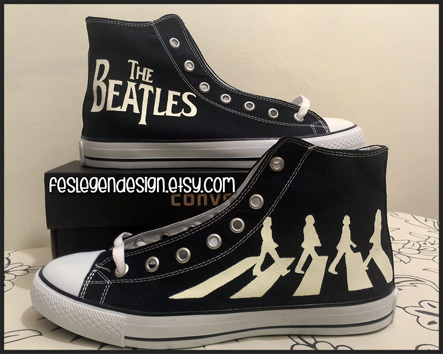 The Beatles Abbey Road Custom Converse Painted Shoes The Beatles Fan Art 36575555 Fanpop