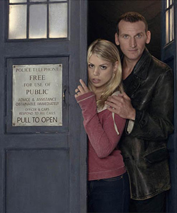 The Doctor and Rose wallpaper with a sign called Nine and Rose