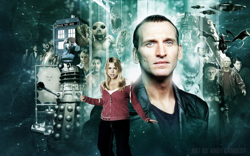 The Doctor and Rose wallpaper titled Nine and Rose