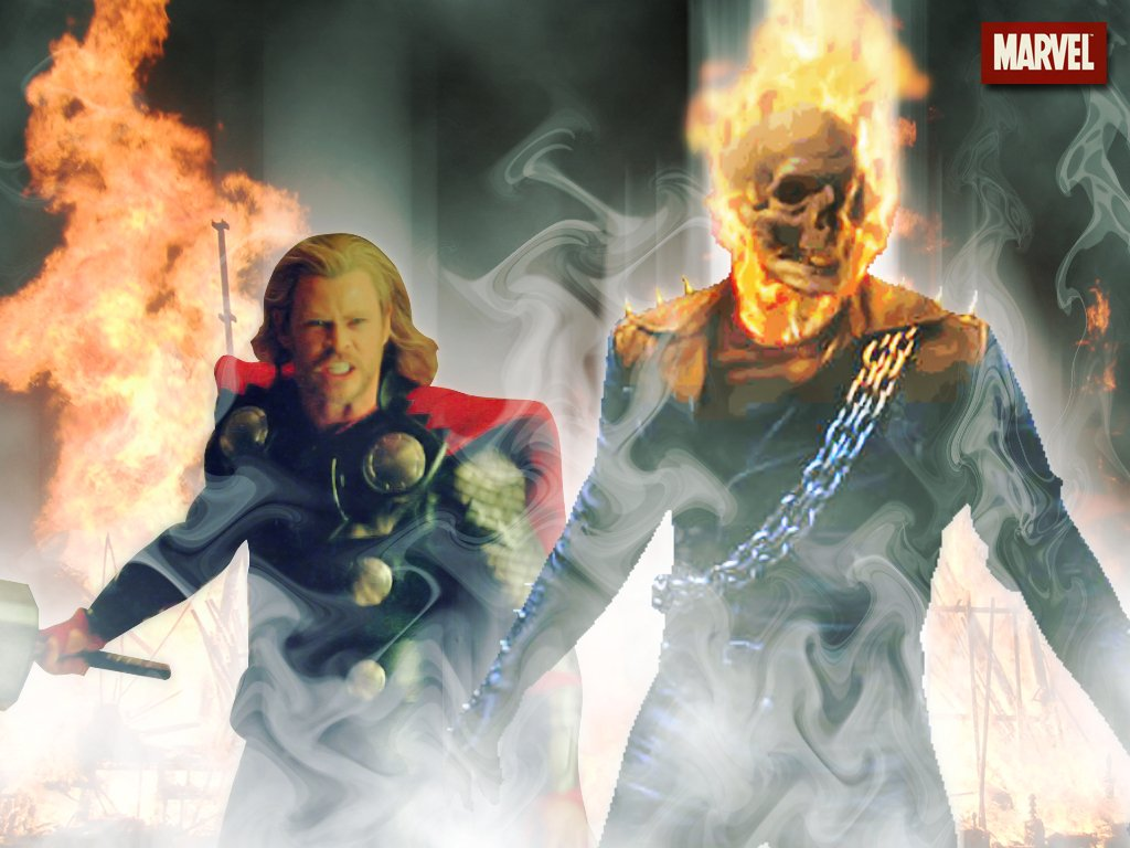 the ghost rider images ghost rider vs thor hd wallpaper and