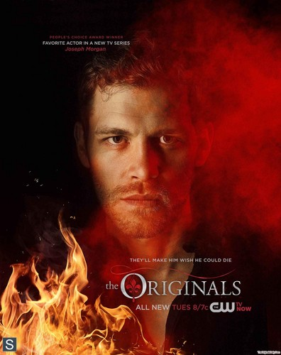 दि ओरिजिनल्स वॉलपेपर probably containing a आग entitled The Originals - February 2014 Sweeps Poster - Klaus
