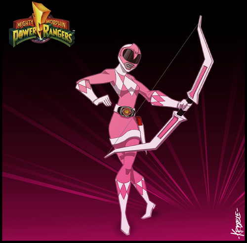 The Power Rangers karatasi la kupamba ukuta titled Kimberly - The pink Ranger