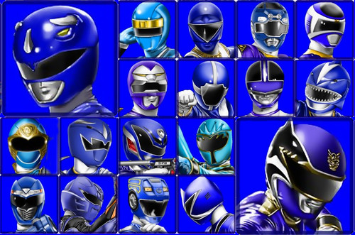 The Power Rangers wallpaper possibly with a slot and a slot machine titled The Blue Rangers