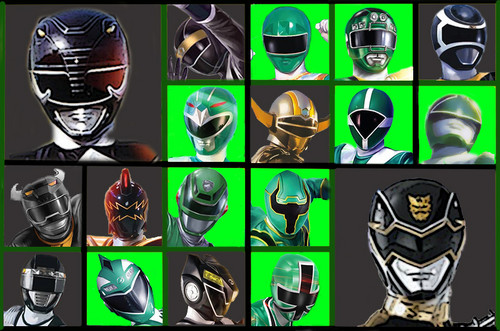 The Power Rangers karatasi la kupamba ukuta possibly with a stained glass window called The Black and Green Rangers