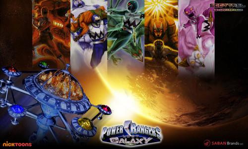 The Power Rangers karatasi la kupamba ukuta possibly with a holiday chajio, chakula cha jioni entitled Power Rangers Lost Galaxy