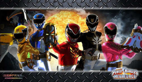 The Power Rangers wallpaper with a chainlink fence called Power Rangers Megaforce