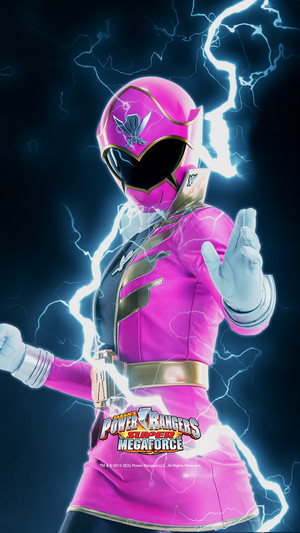 розовый Super Megaforce Ranger