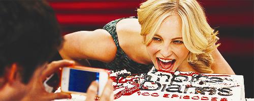 The Vampire Diaries cast celebrating 100th episode
