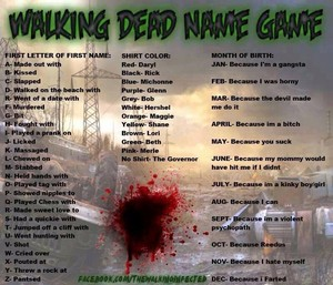The Walking Dead Name Game