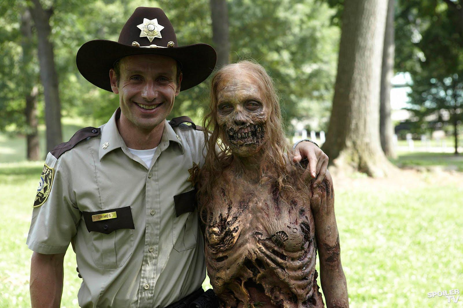 Rick and the bicycle girl zombie