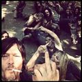 Daryl and the zombies