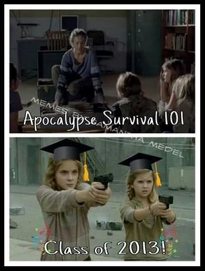 Apocalypse Survival 101 sejak Carol Peletier