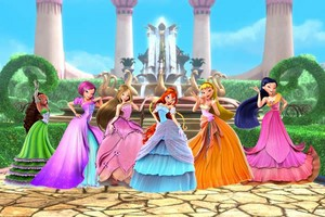 Winx club in gowns