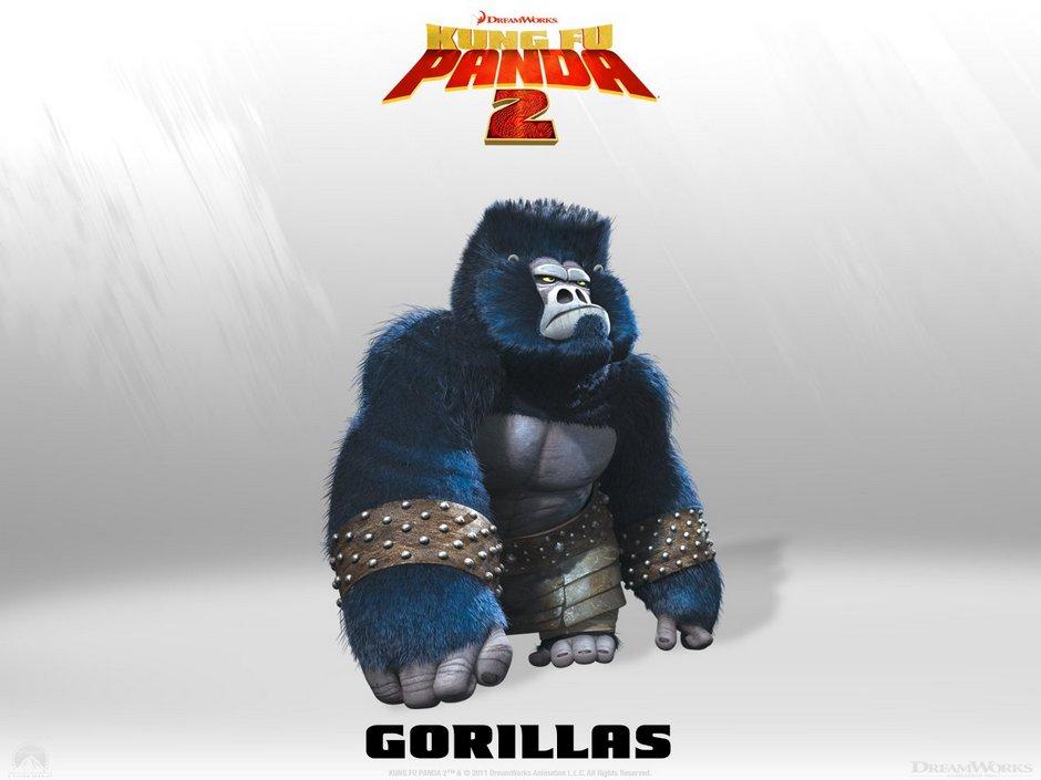 kung fu panda gorillas