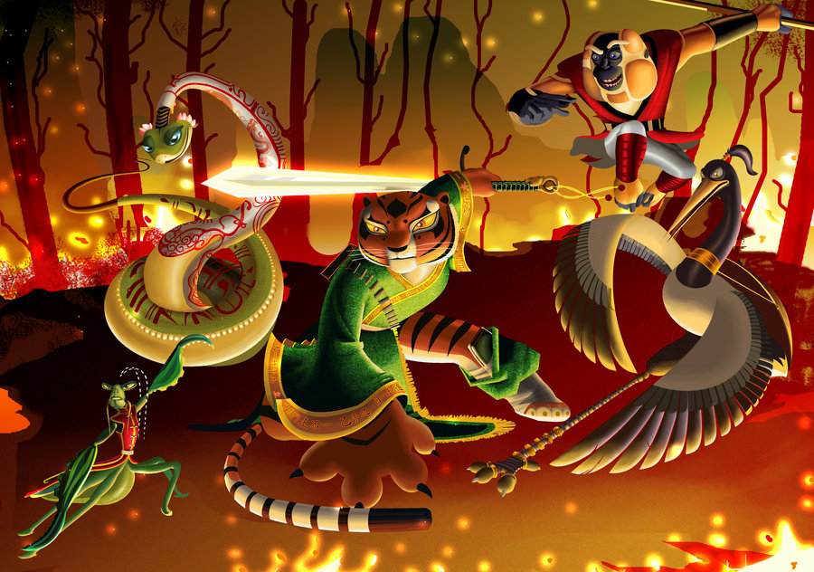 The Kung Fu Panda Images The Furious Five Hd Wallpaper And