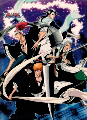 Toshiro Hitsuagya and Renji, Ichigo and Byakuya
