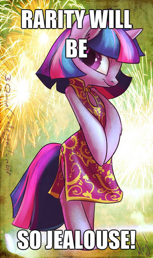 Twilight makes Rarity jealouse!