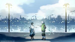 Sasuke Uchiha and Kakashi Hatake