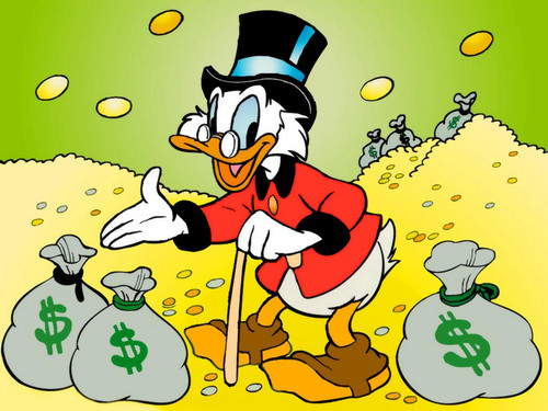 Uncle Scrooge McDuck Обои containing Аниме called Uncle Scrooge