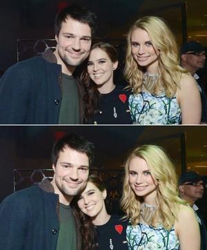 Cast at the VA Party