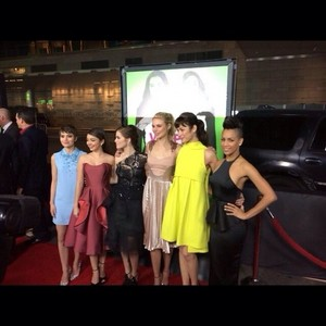 Cast at the premiere