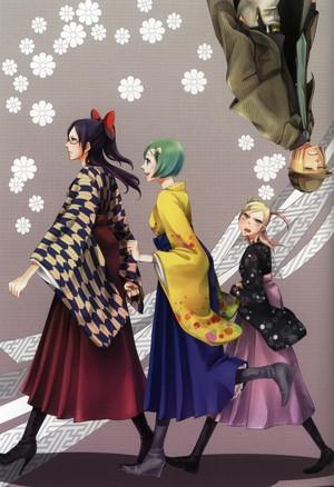 Lisa, Mashiro, Hiyori and Shinji