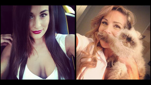 Diva Selfies - Nikki Bella and Natalya