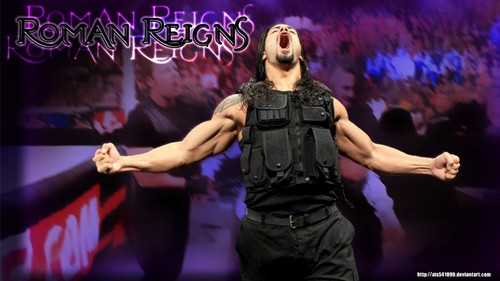 WWE Hintergrund probably with a konzert called Roman Reigns Hintergrund (BEAST!)