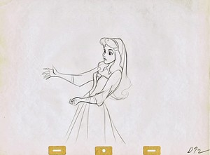 Walt 迪士尼 Sketches - Princess Aurora