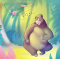 Walt Disney Fan Art - Baloo - walt-disney-characters fan art