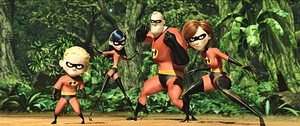 Disney•Pixar Screencaps - Dashiell 'Dash' Robert Parr, বেগুনী Parr, Robert 'Bob' Parr & Helen Parr