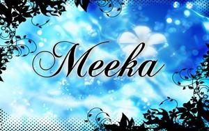Meeka word art
