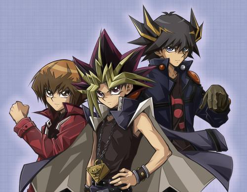 Yu-Gi-Oh fond d'écran containing animé called Yugi-Yuki-Yusei!