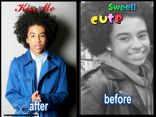 Princeton (Mindless Behavior) wolpeyper probably containing a portrait called after and before