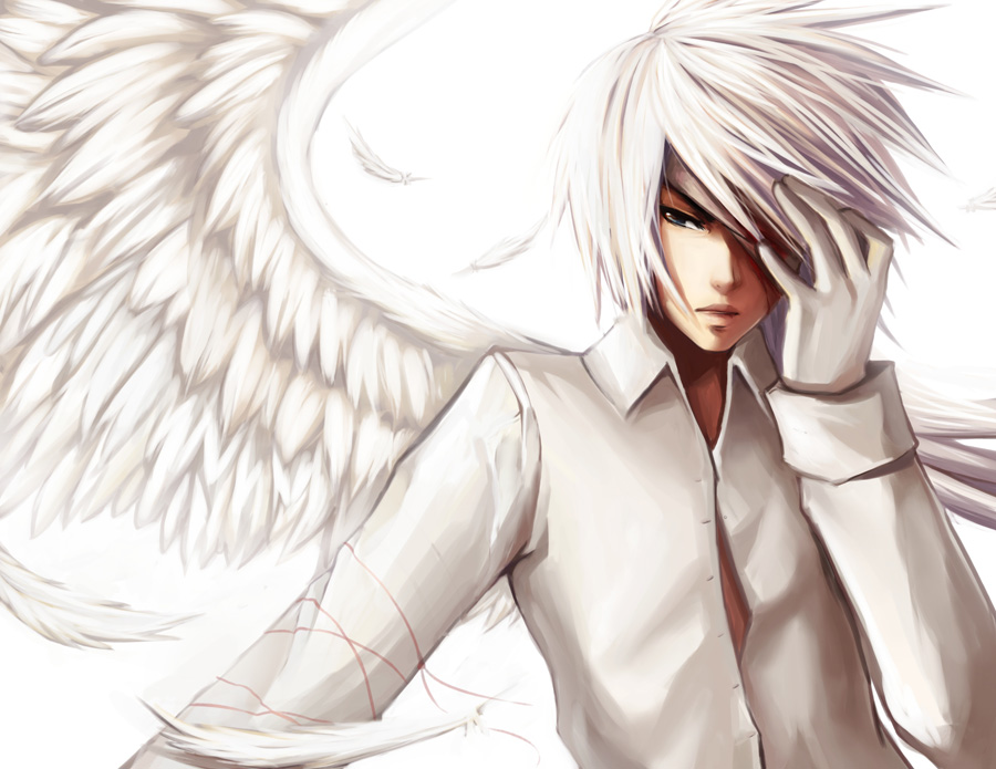Dark Anime Angels Images White Puppy Hd Wallpaper And Background