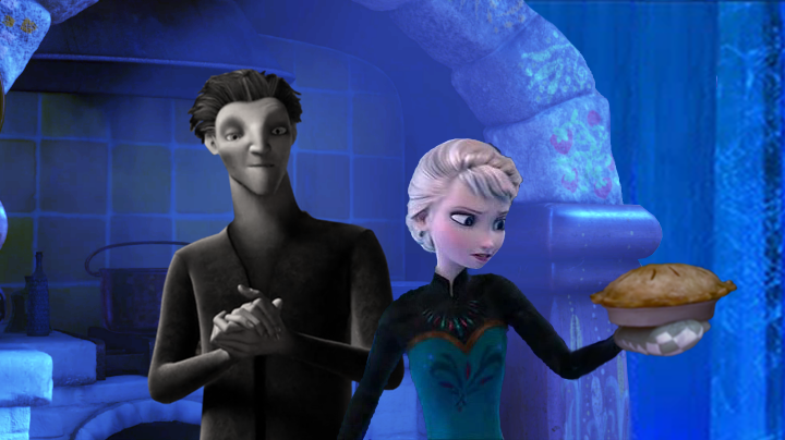 Elsa and Pitch cooking