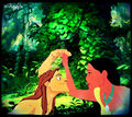 Pocahontas and Tarzan. - disney-crossover photo