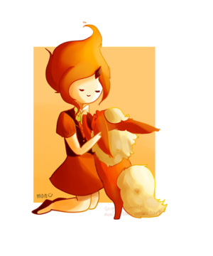Flame Princess and Flareon just for आप