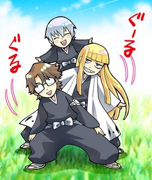 Gin, Aizen and Shinji