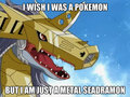 i wish i was a pokemon - digimon fan art