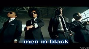 men (young) in black