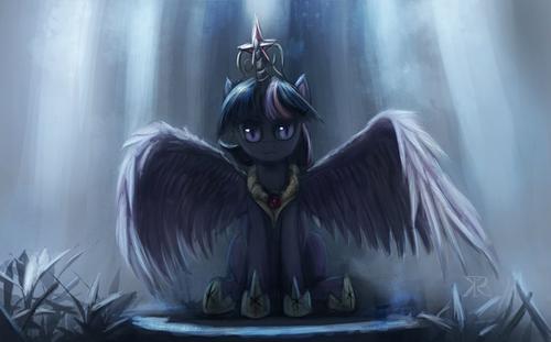 my little টাট্টু friendship is magic twilight sparke দেওয়ালপত্র containing a ফোয়ারা called Twilight Sparkle
